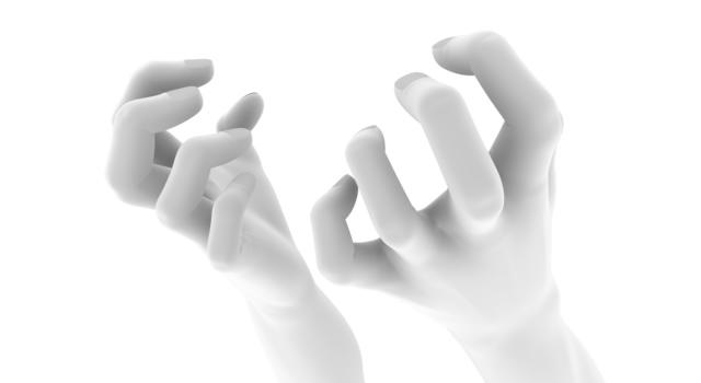 もどかしい手の表現